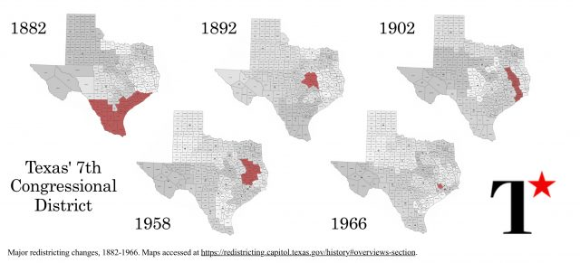Texas 7th Congressional District Map Texas' 7th Congressional District: Historical Breakdown of a