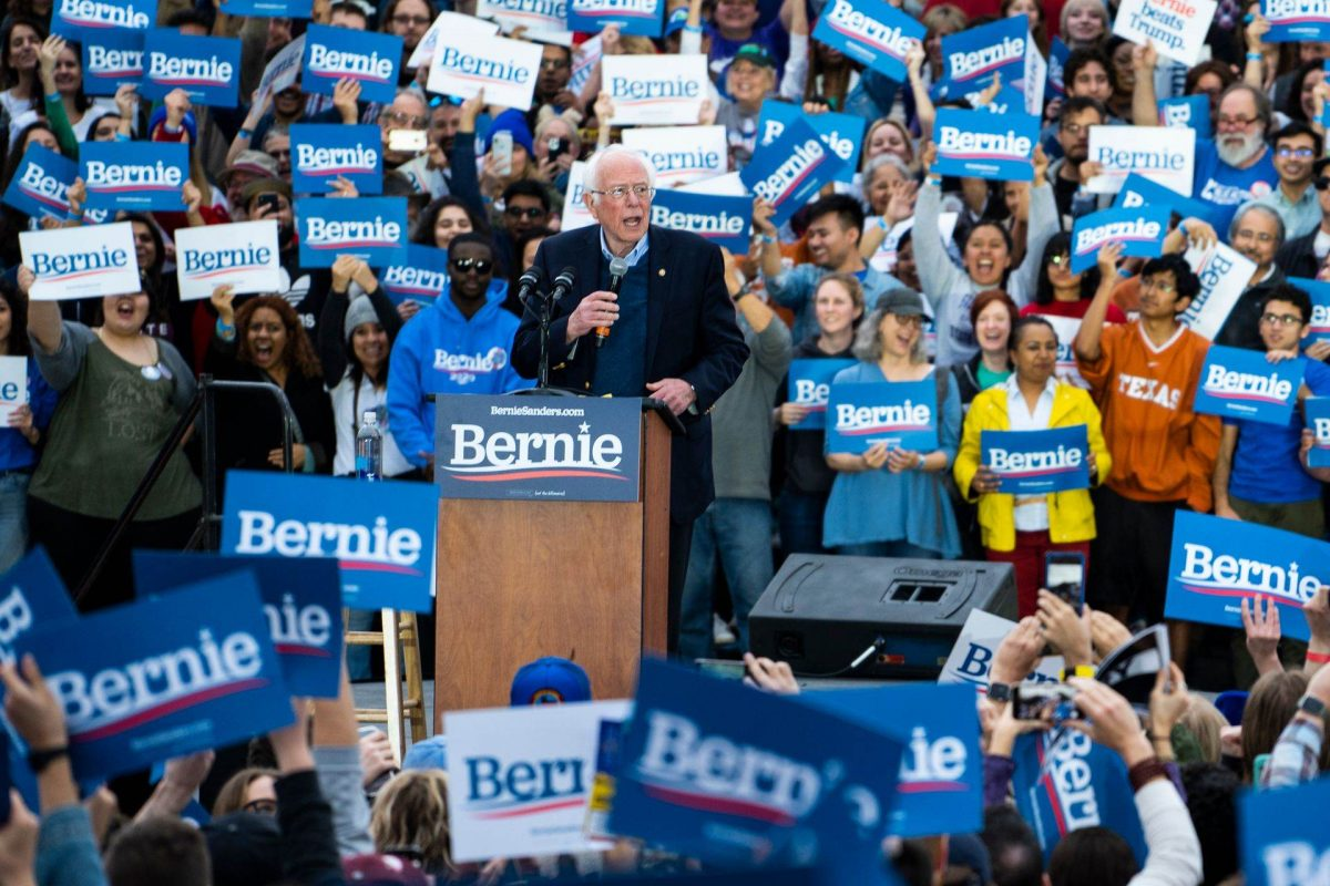 Bernie Sanders Holds Campaign Rally in Austin Following Nevada Victory