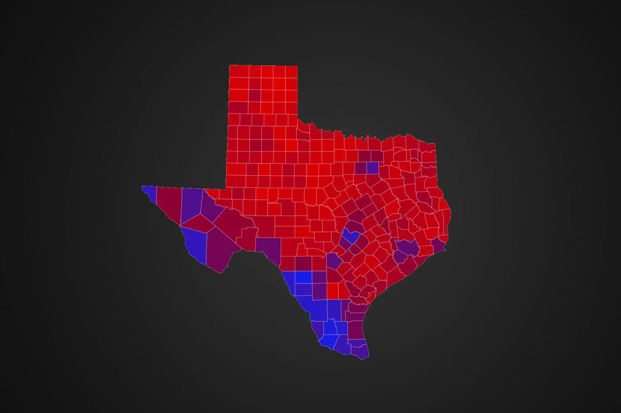 Super Tuesday 2020 The Partisan Voting Index Of Texas Counties