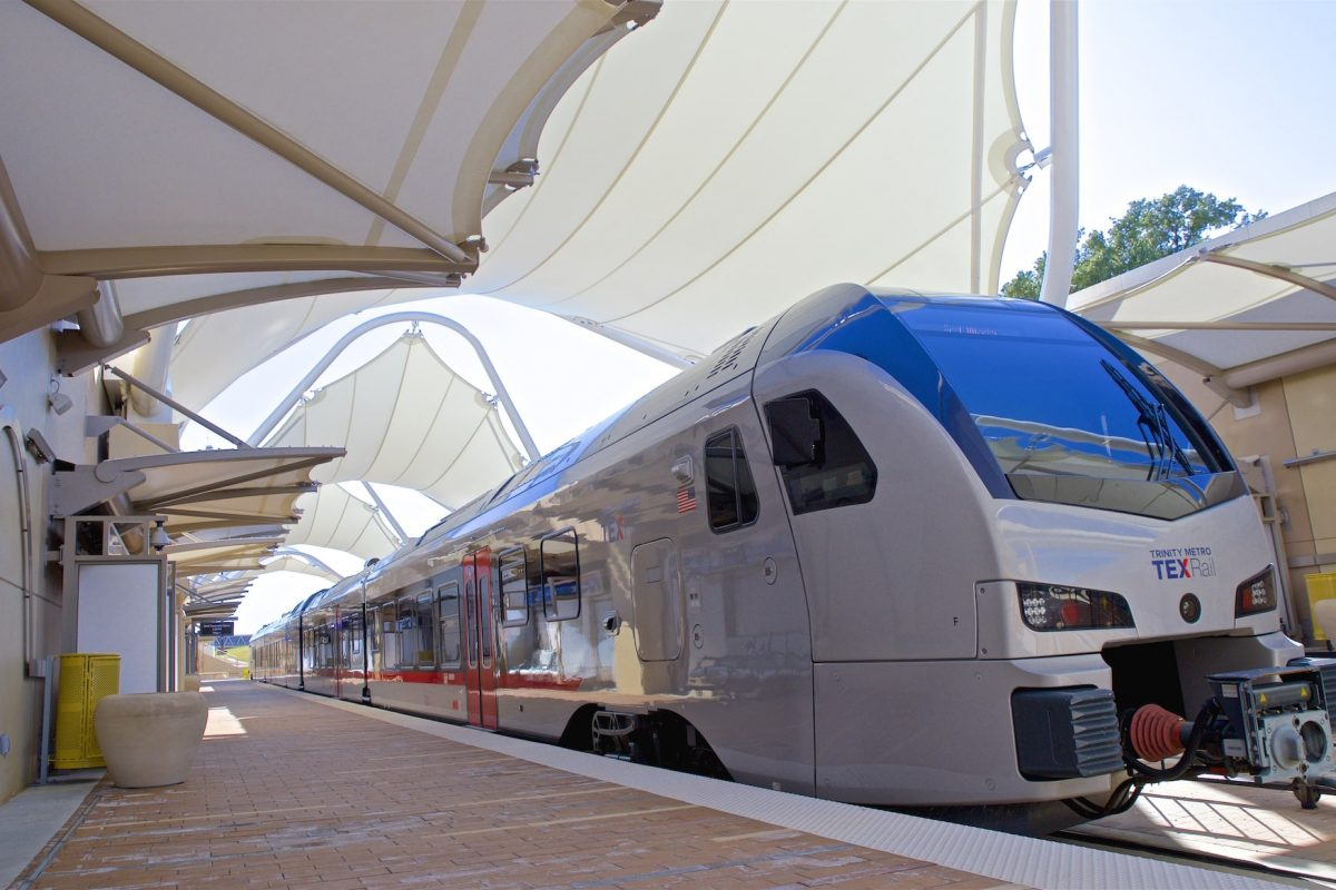 TEXRail Ridership Declines 45% Compared to 2019