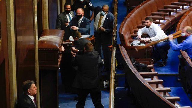 Four Freshmen Texas Congressmen Defend U.S. House Chamber With Capitol Police