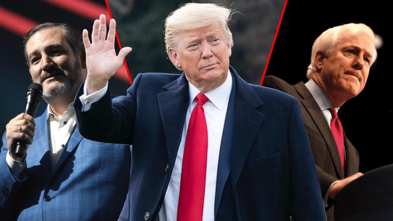 https://thetexan.news/wp-content/uploads/2021/02/Cruz-Trump-Cornyn-4-1280x720.jpg