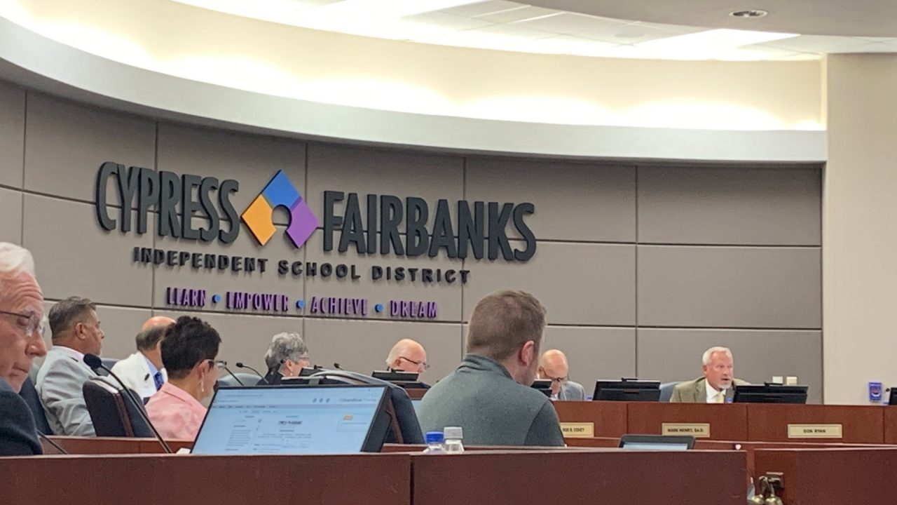 https://thetexan.news/wp-content/uploads/2021/06/Cypress-Fairbanks-ISD-School-Board-Meeting-HH-1280x720.jpg