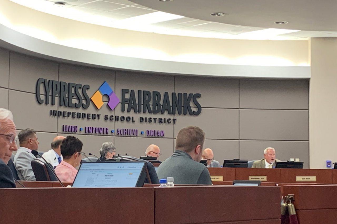 https://thetexan.news/wp-content/uploads/2021/06/Cypress-Fairbanks-ISD-School-Board-Meeting-HH-1280x853.jpg