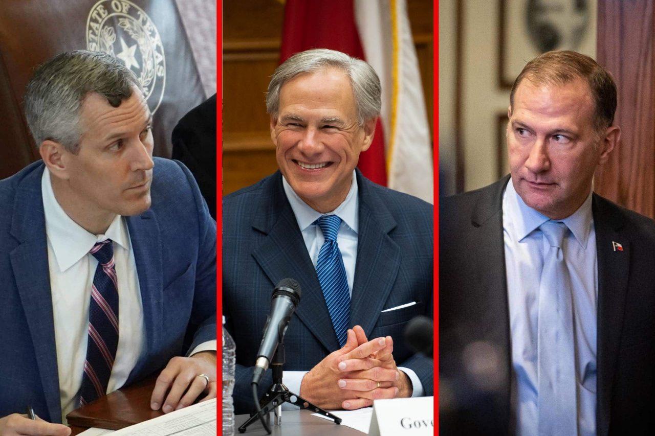 https://thetexan.news/wp-content/uploads/2021/06/Matt-Schaefer-Greg-Abbott-Charles-Schwertner-Constitutional-Carry-1280x853.jpg