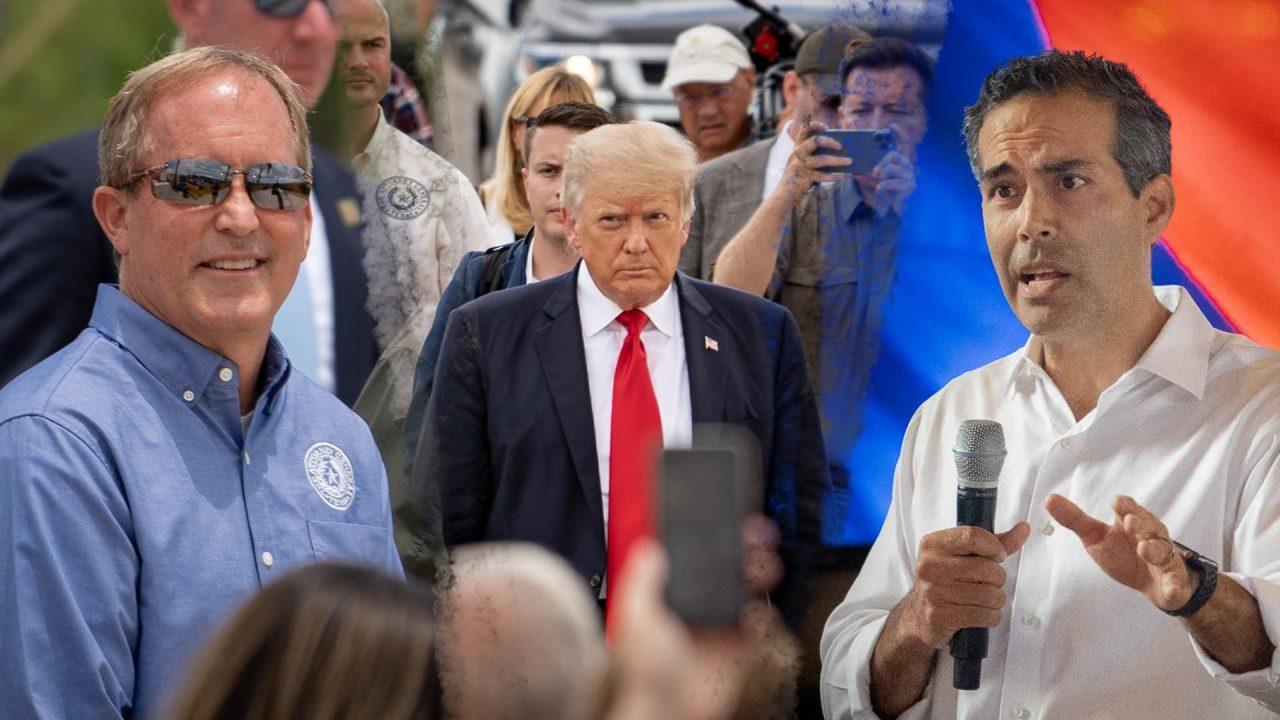 https://thetexan.news/wp-content/uploads/2021/08/Ken-Paxton-Donald-Trump-George-P.-Bush-1280x720.jpg