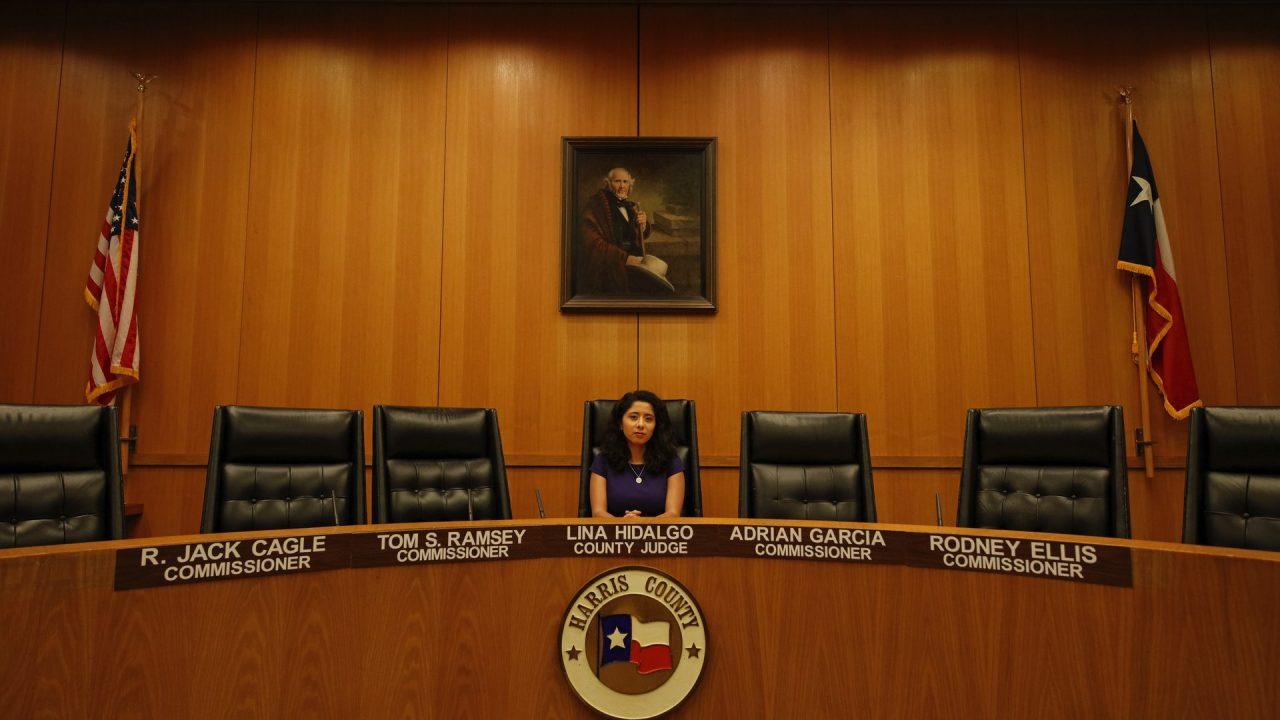 https://thetexan.news/wp-content/uploads/2021/09/Harris-County-Judge-Lina-Hidalgo-Commissioners-Court-1280x720.jpg