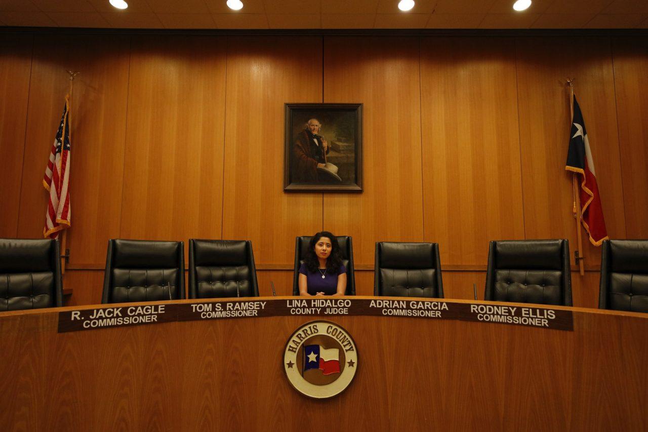 https://thetexan.news/wp-content/uploads/2021/09/Harris-County-Judge-Lina-Hidalgo-Commissioners-Court-1280x853.jpg