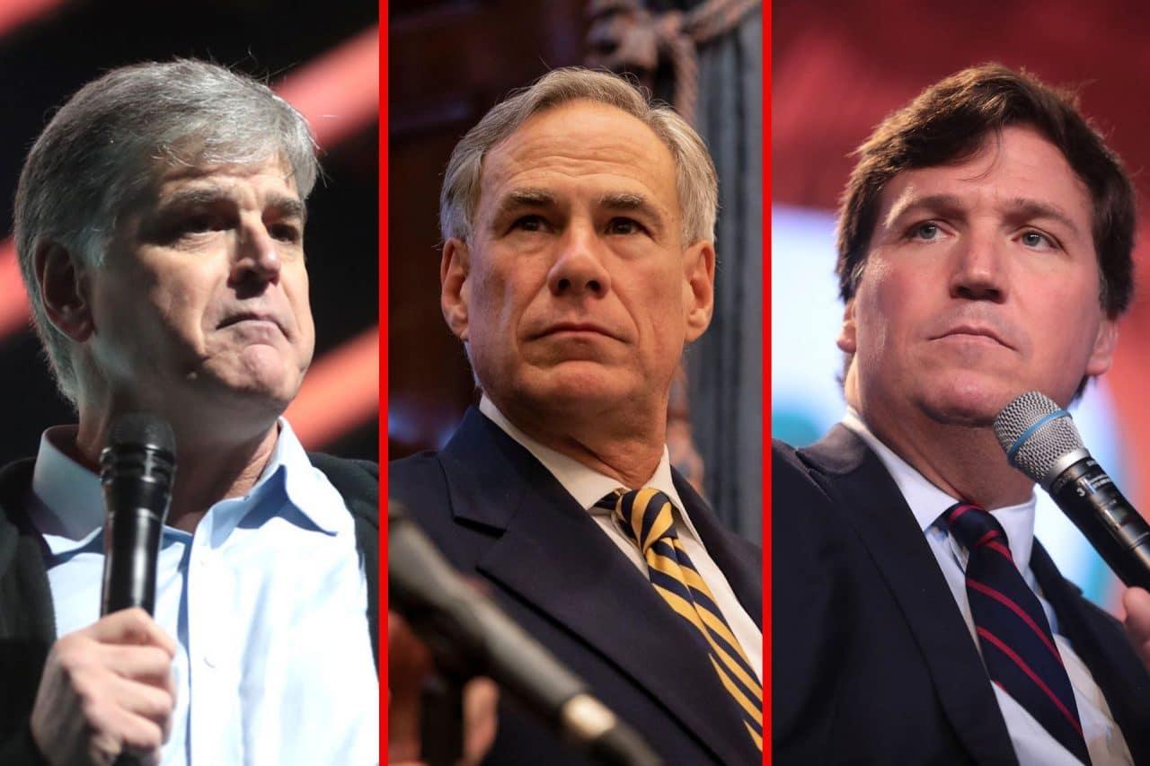 https://thetexan.news/wp-content/uploads/2021/09/Sean-Hannity-Greg-Abbott-Tucker-Carlson-1280x853.jpg