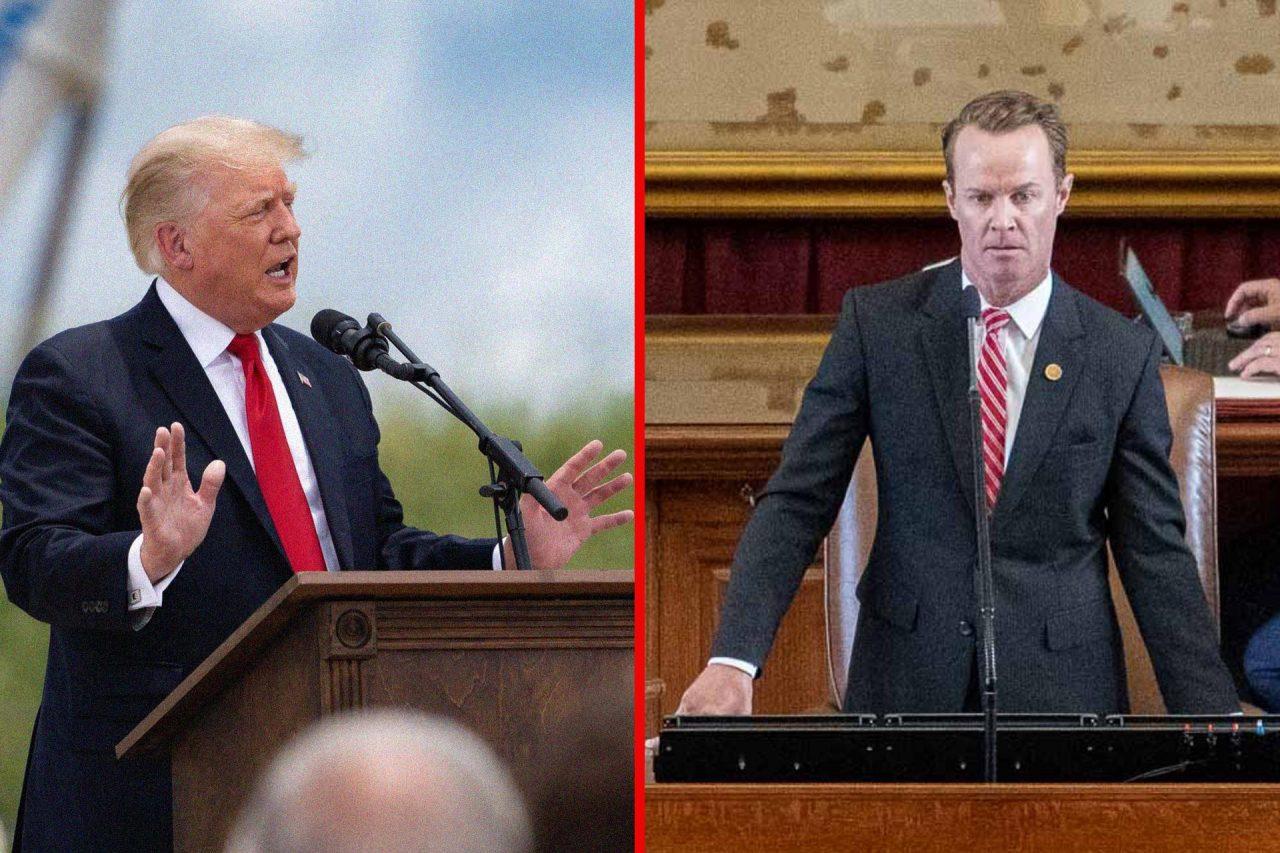 https://thetexan.news/wp-content/uploads/2021/10/Donald-Trump-Dade-Phelan-1280x853.jpg