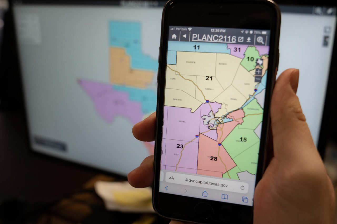 https://thetexan.news/wp-content/uploads/2021/10/Texas-Senae-Congressional-Redisricting-Map-DF-1280x853.jpg